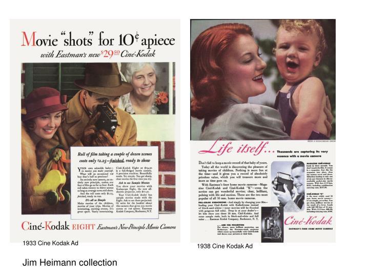 1933 Cine Kodak Ad