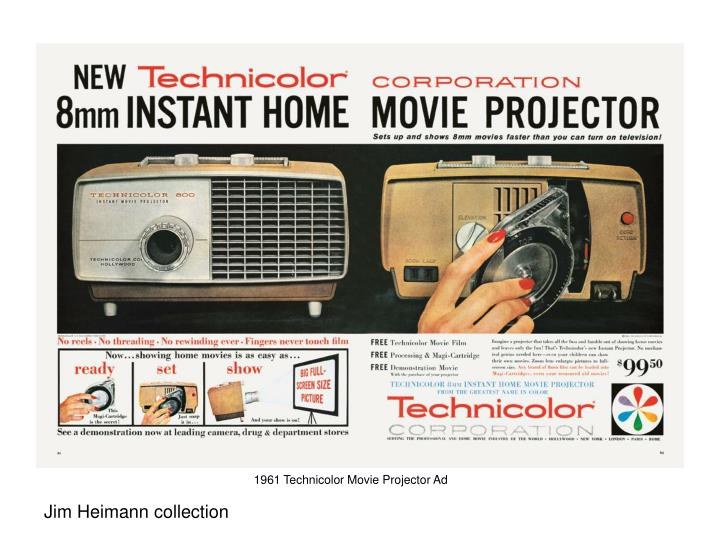1961 Technicolor Movie Projector Ad