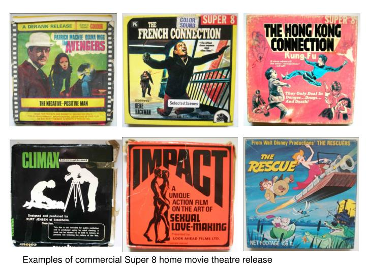 Examples of commercial Super 8 home movie theatre release