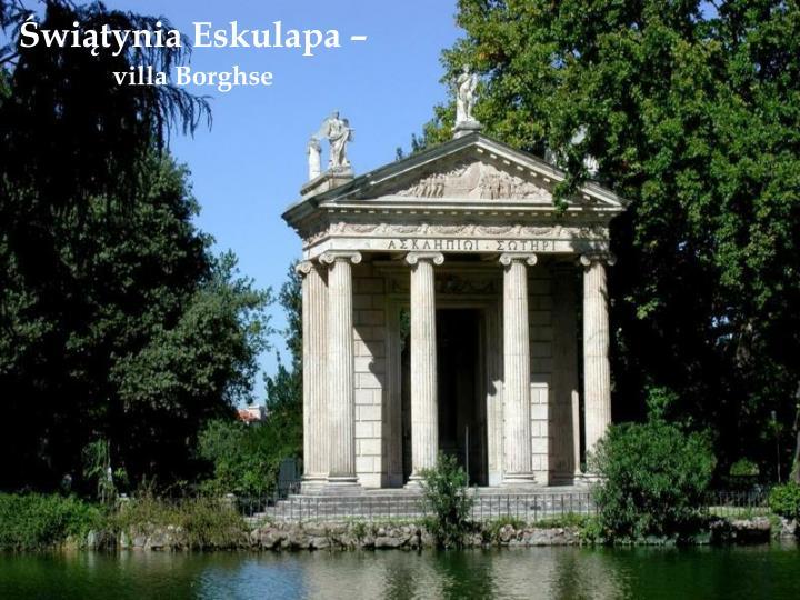 Świątynia Eskulapa –