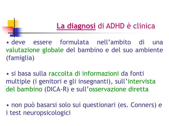 La diagnosi