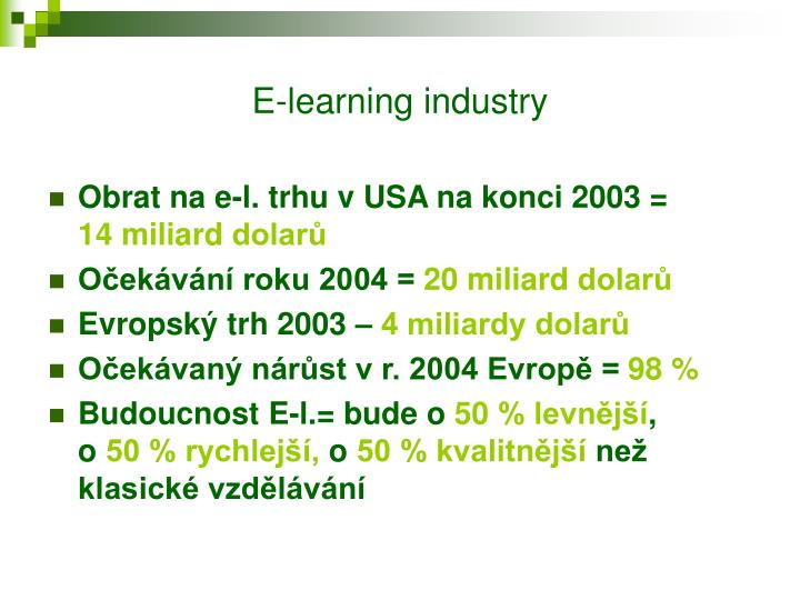 E-learning industry
