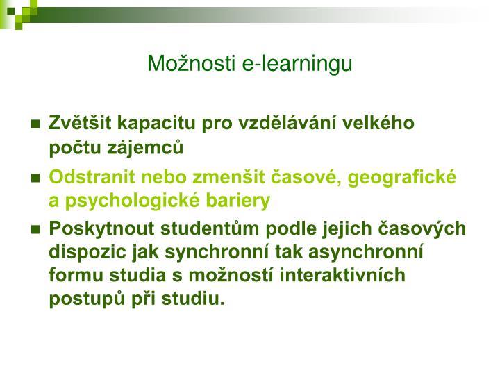 Možnosti e-learningu