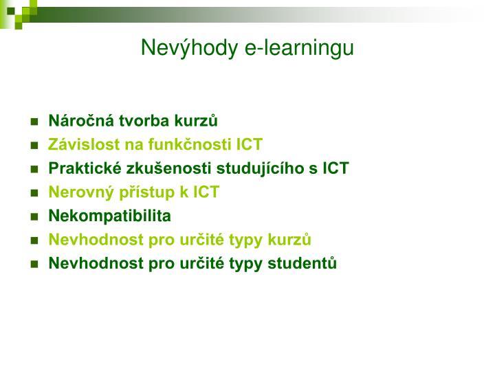 Nevýhody e-learningu