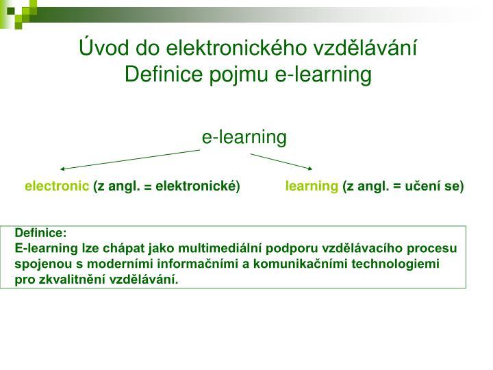 Úvod do elektronického vzdělávání