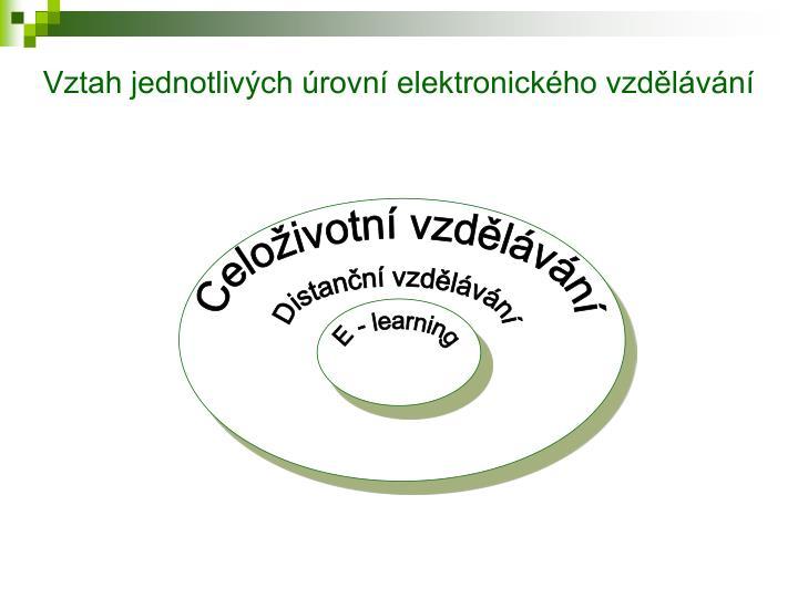 Vztah jednotlivých úrovní elektronického vzdělávání