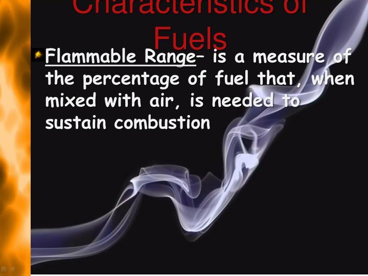 Characteristics of Fuels