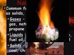 nature of fuels