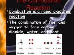 the combustion reaction
