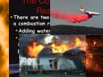 the combustion reaction2