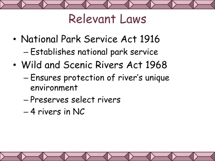 Relevant Laws