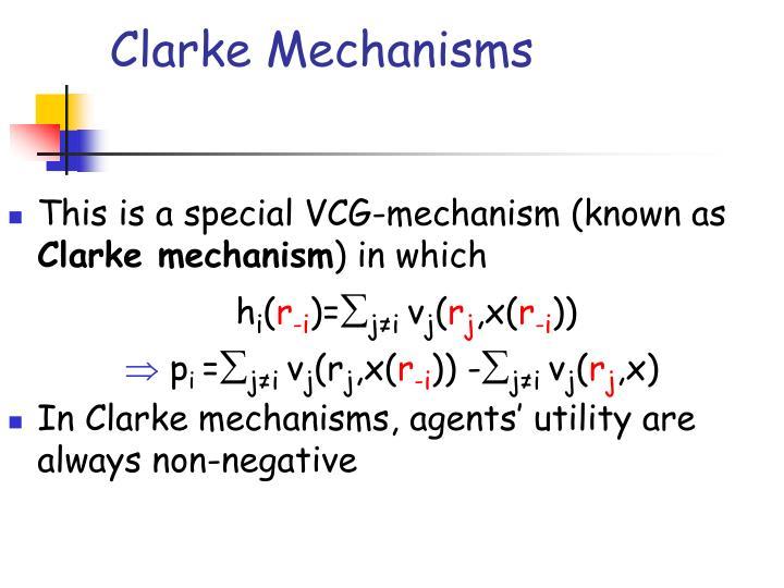 Clarke Mechanisms