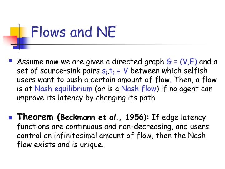 Flows and NE
