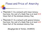 flows and price of anarchy