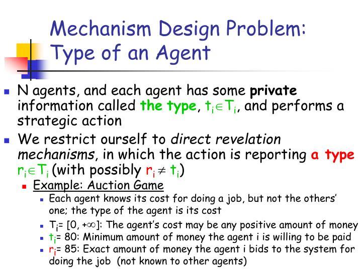 Mechanism Design Problem: