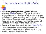 the complexity class ppad