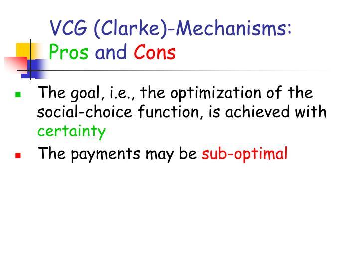 VCG (Clarke)-Mechanisms: