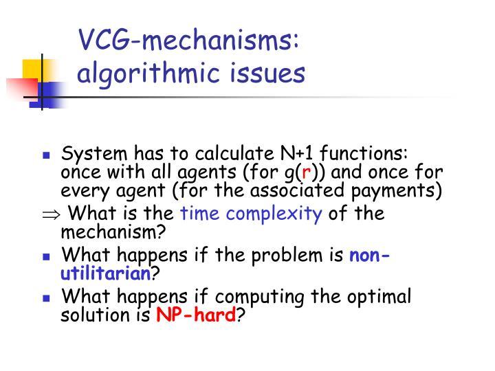 VCG-mechanisms: