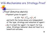 vcg mechanisms are strategy proof
