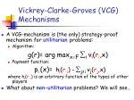 vickrey clarke groves vcg mechanisms
