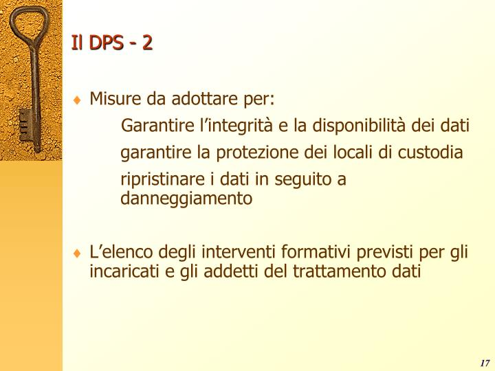 Il DPS - 2