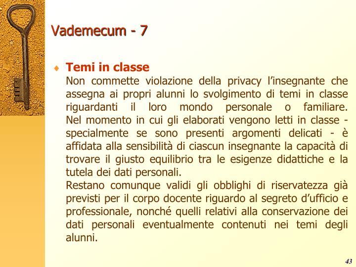 Vademecum - 7
