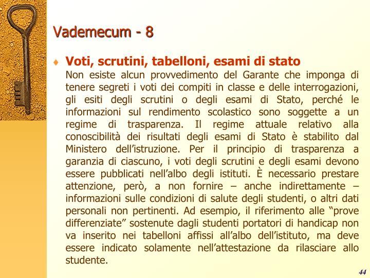 Vademecum - 8