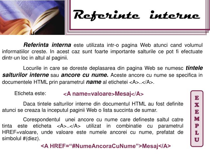 Referinte  interne