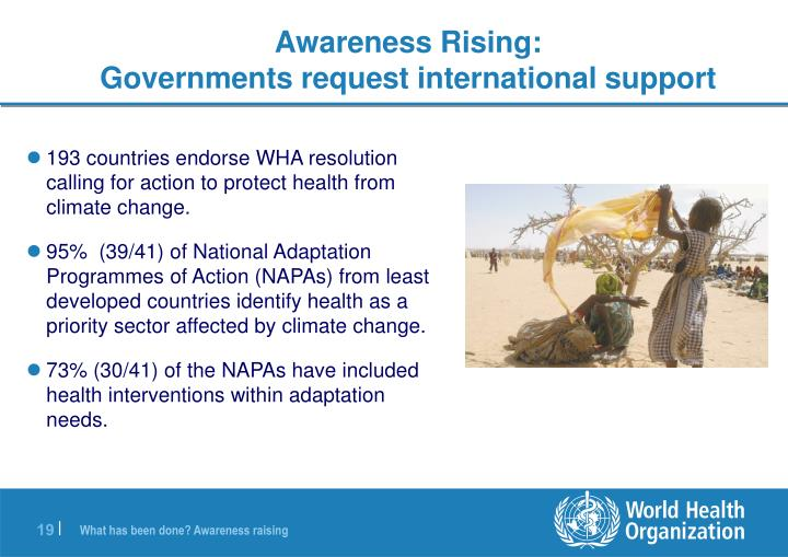 193 countries endorse WHA resolution calling for action to protect health from climate change.