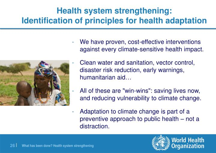 Health system strengthening: