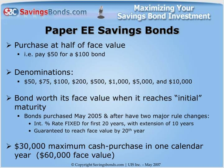 Paper EE Savings Bonds