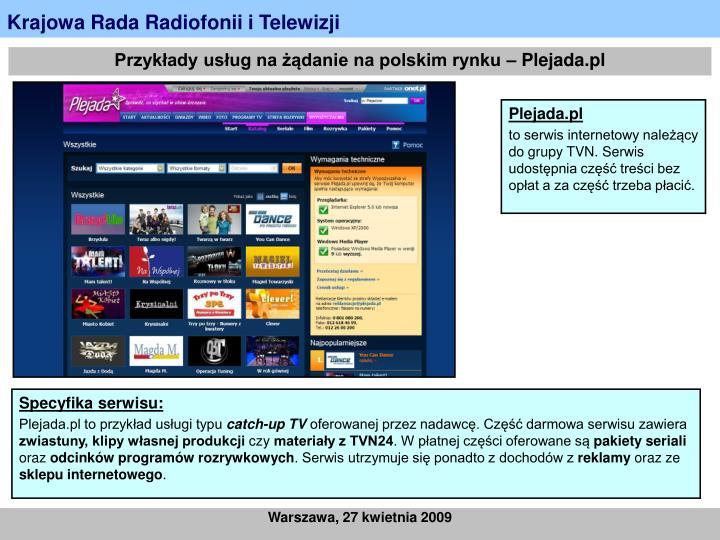 Przykłady usług na żądanie na polskim rynku – Plejada.pl