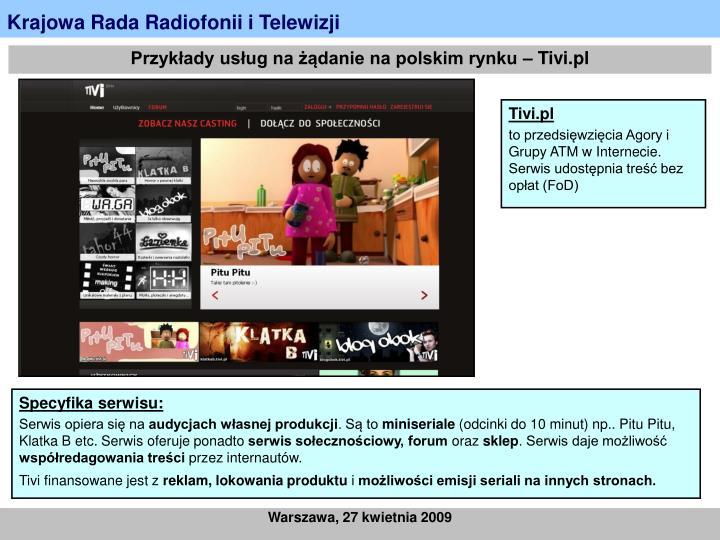 Przykłady usług na żądanie na polskim rynku – Tivi.pl