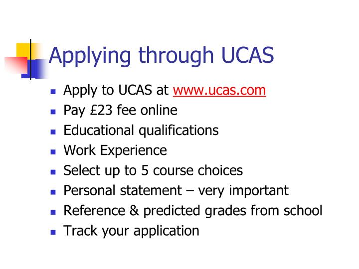 Applying through UCAS