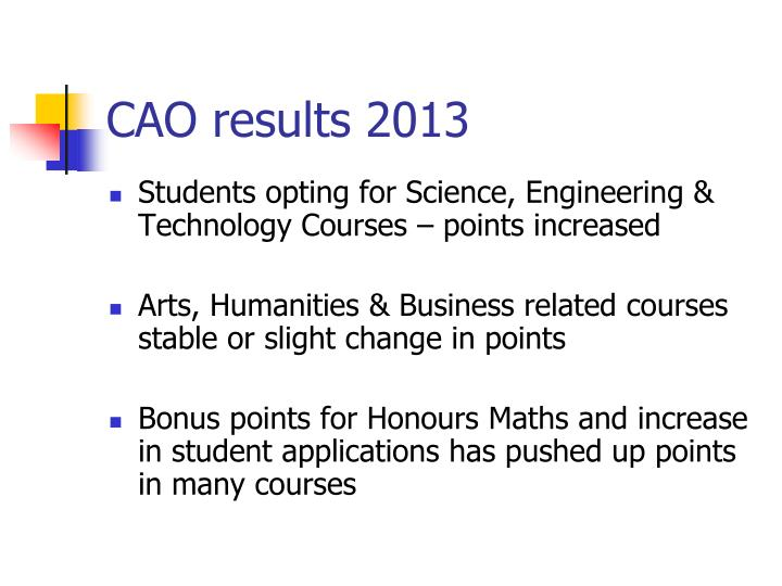 CAO results 2013