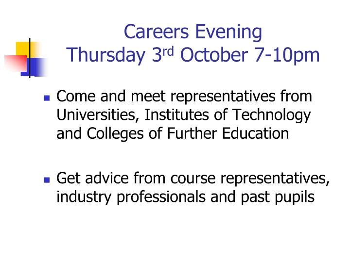 Careers Evening