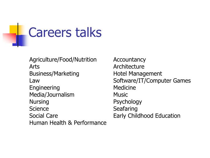 Careers talks