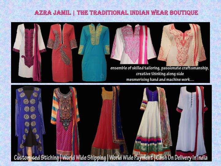 Azra jamil the traditional indian wear boutique