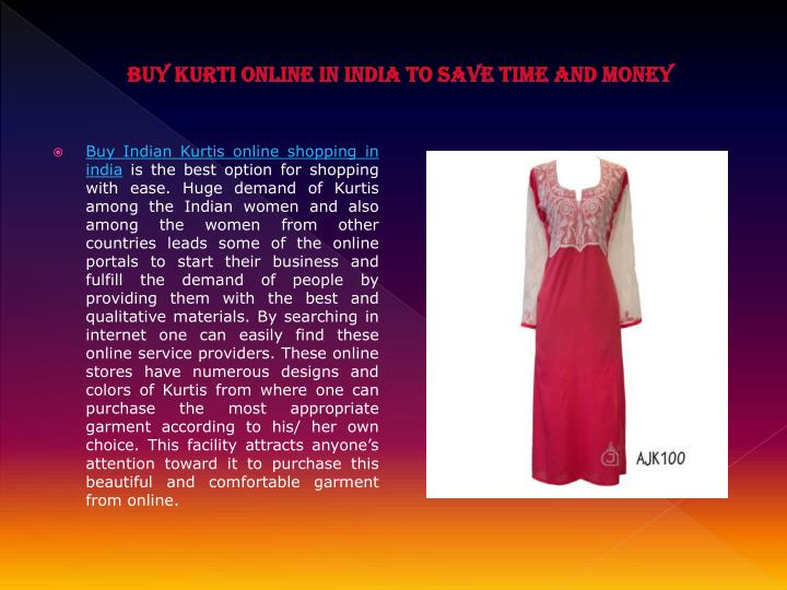 Buy kurti online in india to save time and money