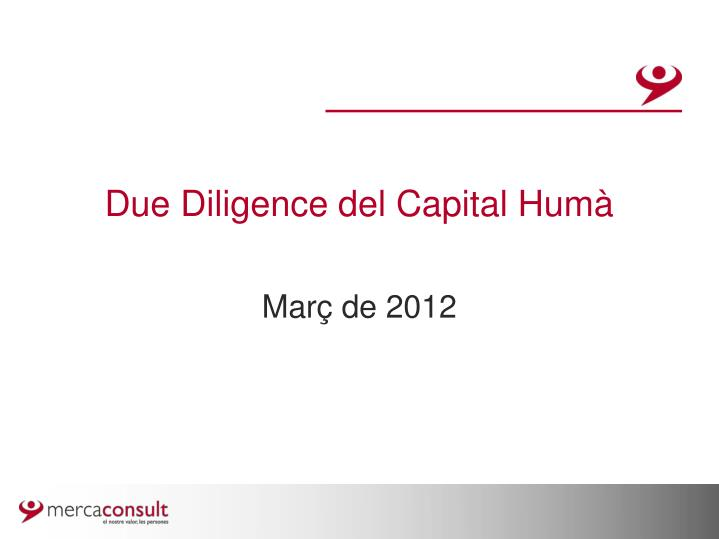 Due diligence del capital hum