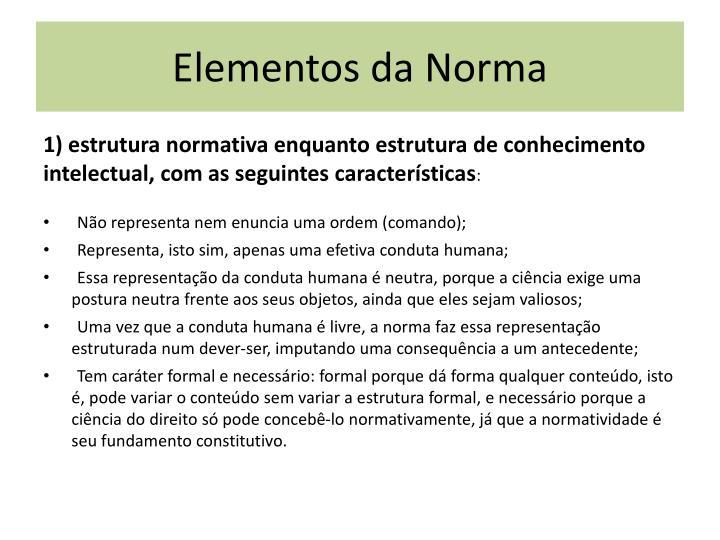 Elementos da Norma