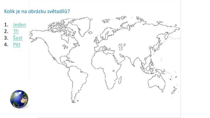 Kolik je na obrázku světadílů?