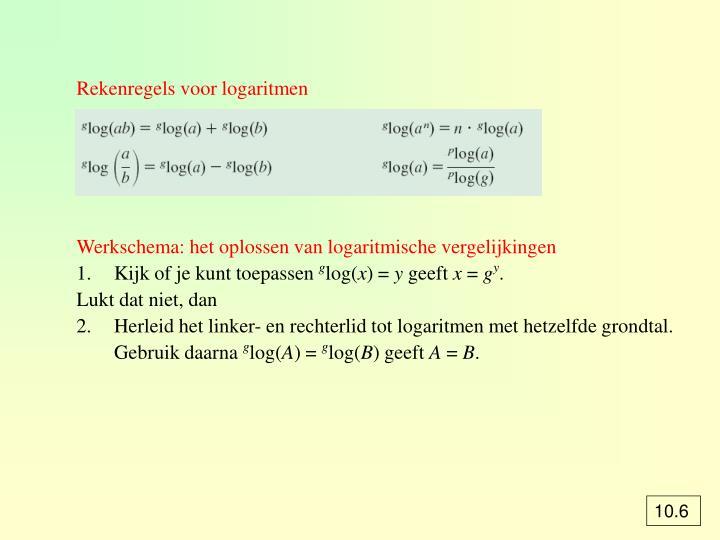 Rekenregels voor logaritmen