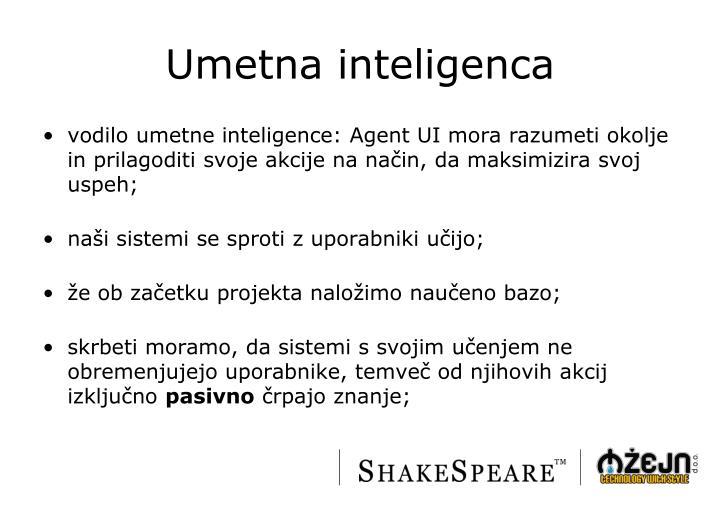 Umetna inteligenca