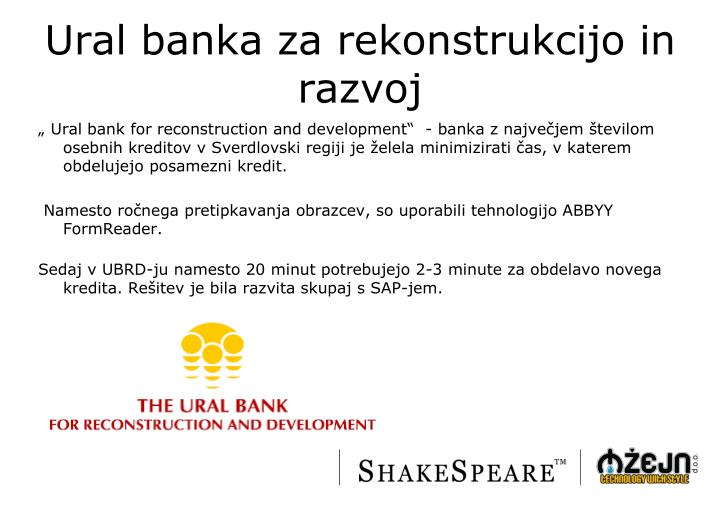 Ural banka za rekonstrukcijo in razvoj