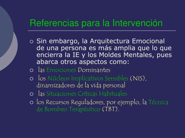 Referencias para la Intervención