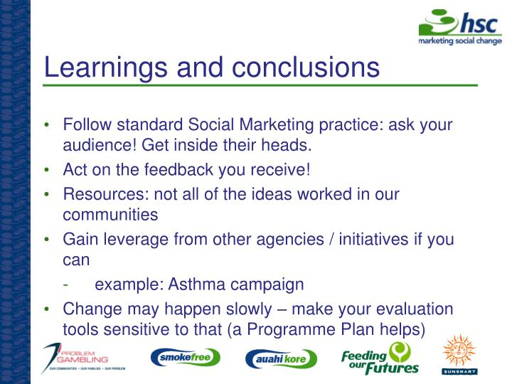 Learnings and conclusions