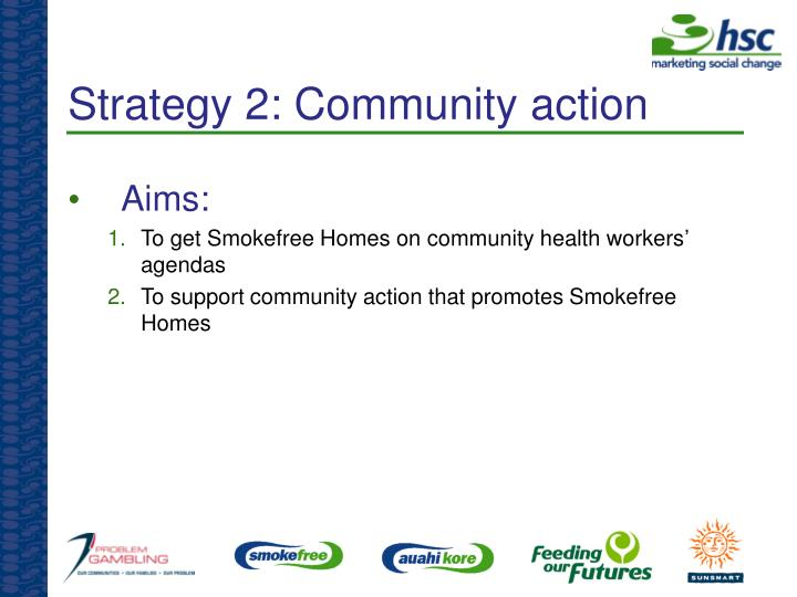 Strategy 2: Community action