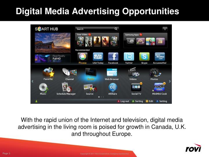 Digital Media Advertising Opportunities