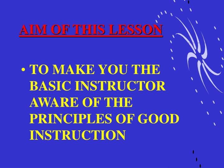 Aim of this lesson